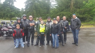 Wet weather for Ride for Doug
